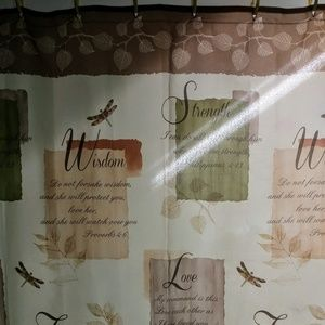 Hope faith love shower curtain.